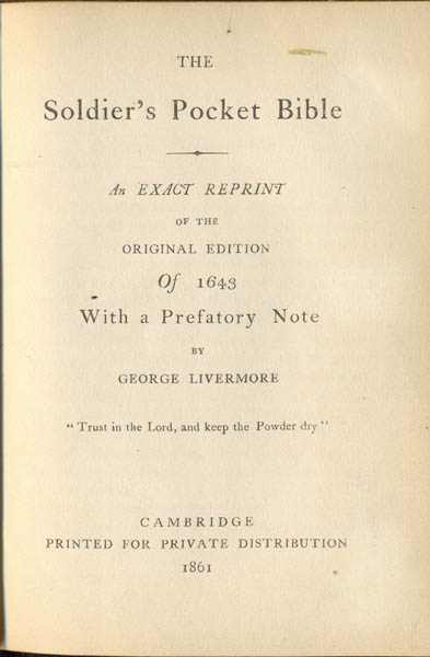 The Soldier's Pocket Bible